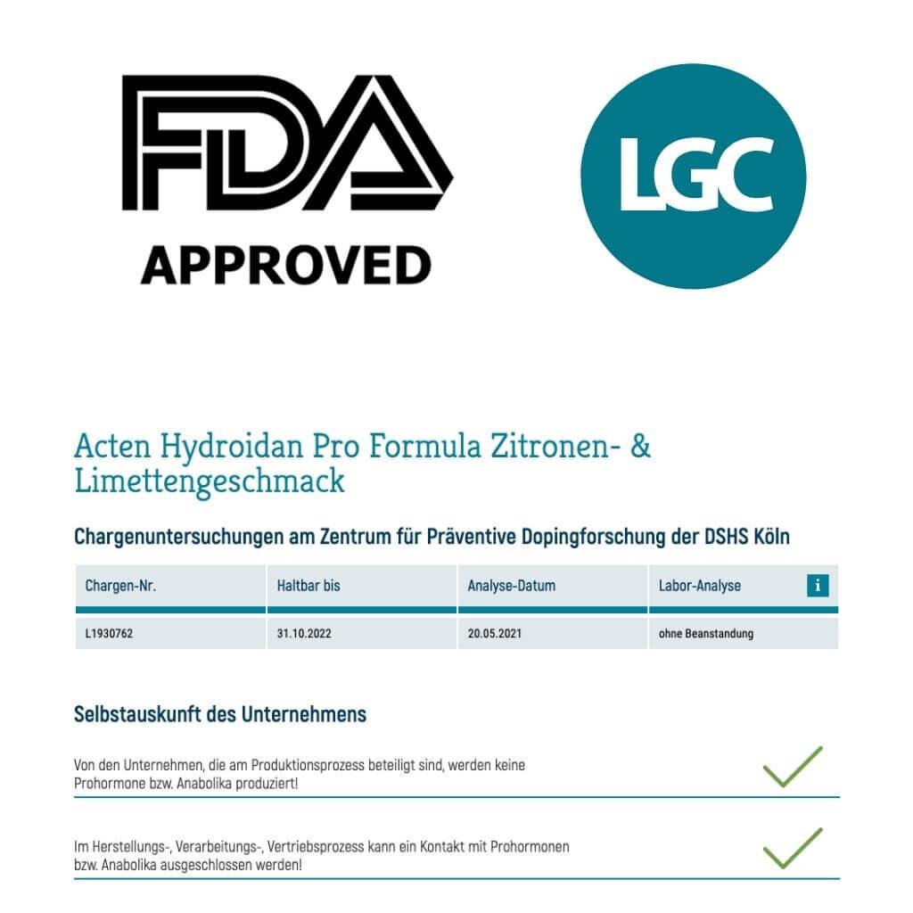 Koelner Liste antidoping zertifizierung