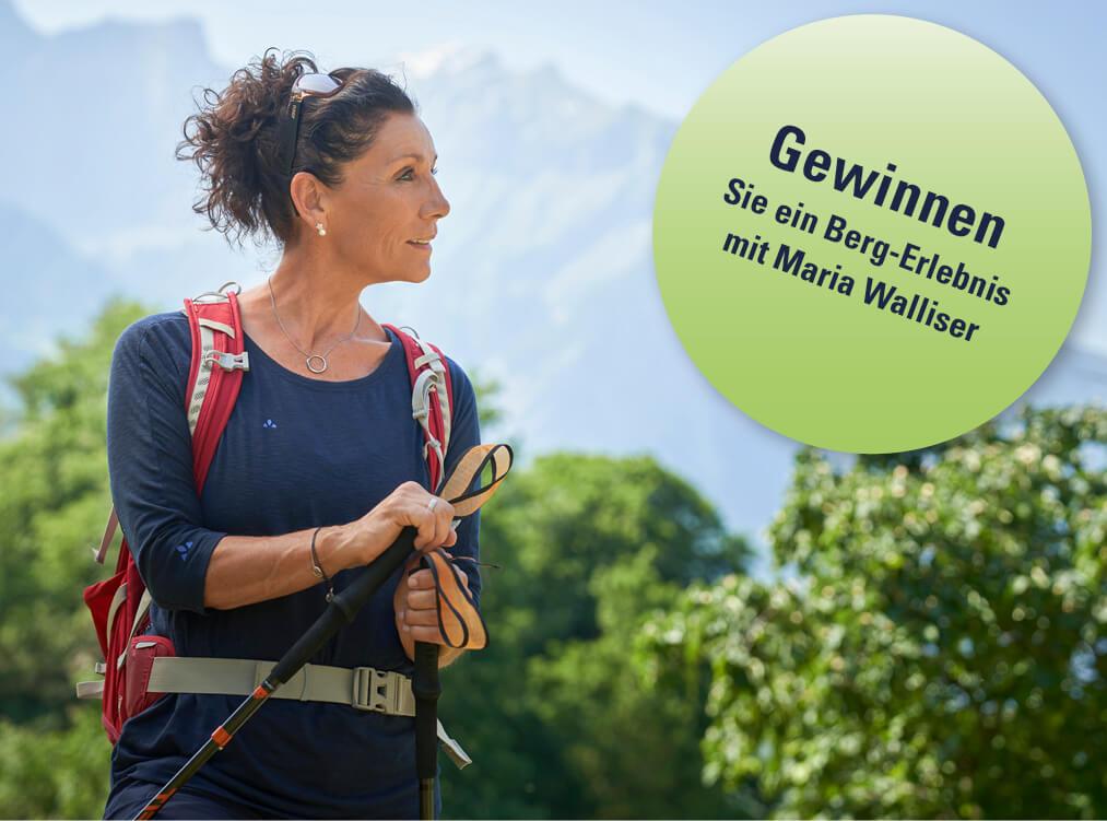 Wettbewerb mit Gewinn eines Berg-Erlebnis mit Maria Walliser